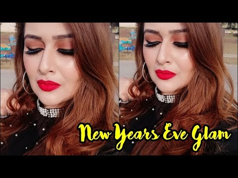 Winged Liner + Red Lips | New Years Eve Glam Makeup Tutorial