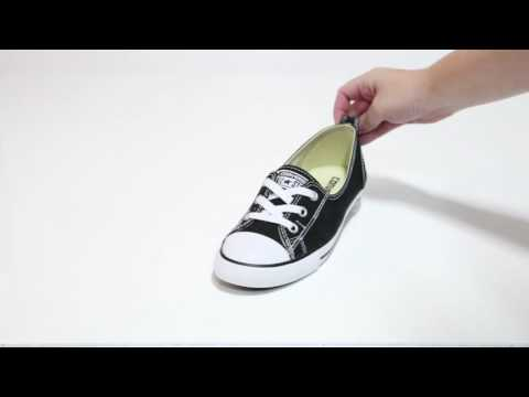 Converse Women s CT ALL STAR BALLET LACE black slip-ons YouTube Video 4eaf4c990