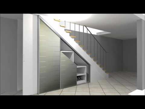 Cabinet Einbauschrank zur Nutzung von Stauraum unter einer Treppe von DÖRR Mannheim