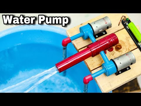 How to make High Speed Water Pump at Home | Two DC Motor