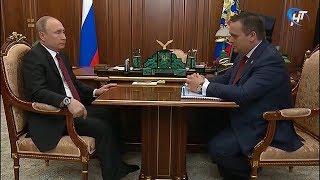 Андрей Никитин рассказал о развитии Новгородской области Владимиру Путину