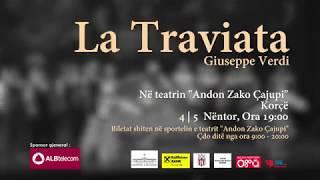 """TKOBAP / OPERA ON – TOUR – """"La Traviata"""" – 4 dhe 5 Nëntor, në Korçë"""