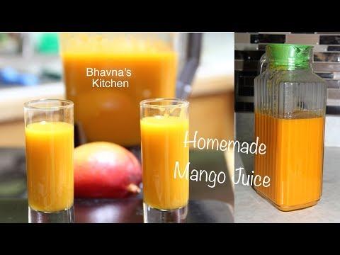 Video Homemade Mango Juice Video Recipe | No added Sugar  | Bhavna's Kitchen