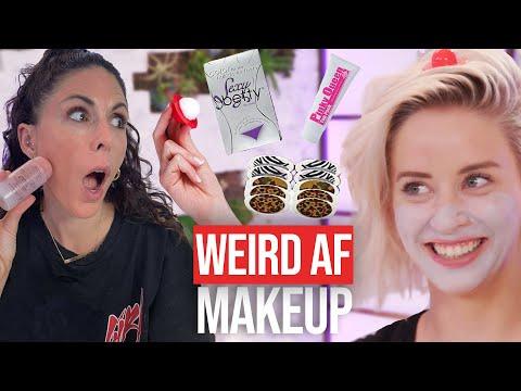 9 Weirdest Makeup Products We've Ever Tried! (Bonus Break)