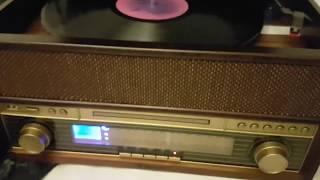 auna Epoque 1909 Retro-Audiosystem Plattenspieler mit Vinyl-to-MP3-Funktion