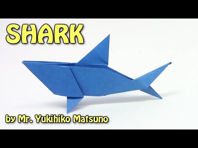 Cool Origami SHARK by Mr. Yukihiko Matsuno - Origami easy tutorial