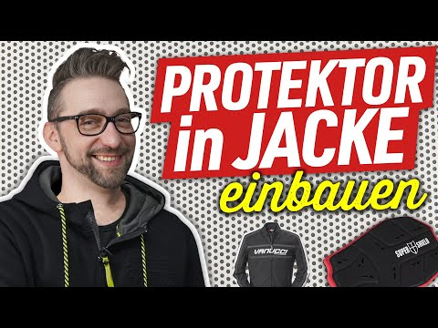Rückenprotektor in Motorradjacke einbauen!