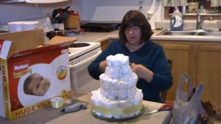 How to Make A Diaper Cake / Small Wal-Mart Baby Haul