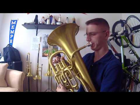 "This is a video of me playing the euphonium solo from Eric Whitacre's ""October""!"