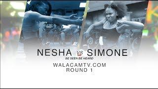WALACAMTV.COM ITS ON - NESHA VS SIMONE-RD1 HIP ROLL BATTLE @ FINAL