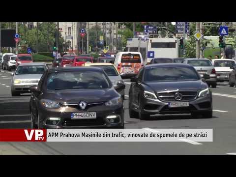 APM Prahova: Mașinile din trafic, vinovate de spumele de pe străzi