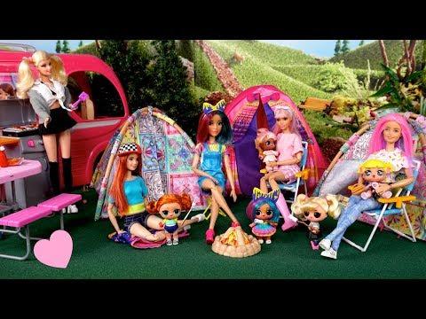 Campamento con Bebes LOL Surprise y Mamas - Jugando con Muñecas