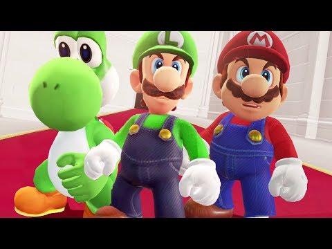 Mario, Luigi and Yoshi in Super Mario Odyssey - Fi   Youtube
