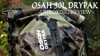 OSAH DRYPAK 30L Waterproof Backpack - Unboxing Review -