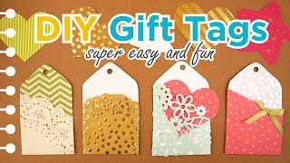 DIY Gift Tags With A Card Pocket ( Super Easy & Fun )
