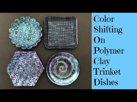 Polymer Clay Tutorial Trinket Dishes Ring Coin Holder Decorated With Dragonfly Glaze