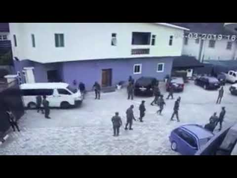 CCTV exposes military invasion on Commissioner's House In Rivers State