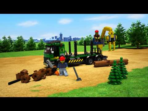 Vidéo LEGO City 60059 : Le camion forestier