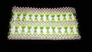 পুতির ব্যাগ/ How to make beaded purse bag/beaded bag/Craft creations by lima