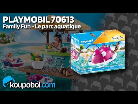 Vidéo PLAYMOBIL Family Fun 70613 : Aire de jeu aquatique