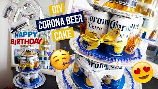 DIY | MAKING A DIY CORONA BEER CAKE FOR MY BOYFRIENDS BIRTHDAY! (Gift Ideas For Him)