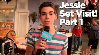 """Behind The Scenes of the """"Jessie"""" Set with Cameron Boyce! Part 1"""