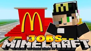 Minecraft Jobs : Little Kelly - FIRST DAY WORKING IN MCDONALDS!