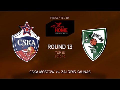 Highlights: Top 16, Round 13, CSKA Moscow 100-86 Zalgiris Kaunas