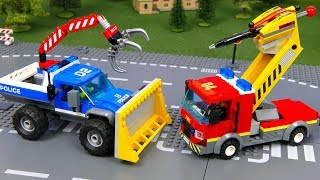 LEGO Fire Truck, Police Car and Experimental Cars | Toy Vehicles for Kids | Cars for Childrens