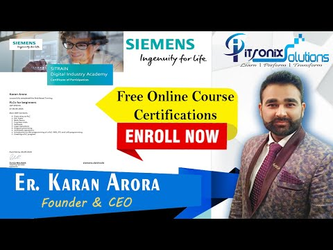 Siemens FREE Online Course Certification - Siemens PLC and ...
