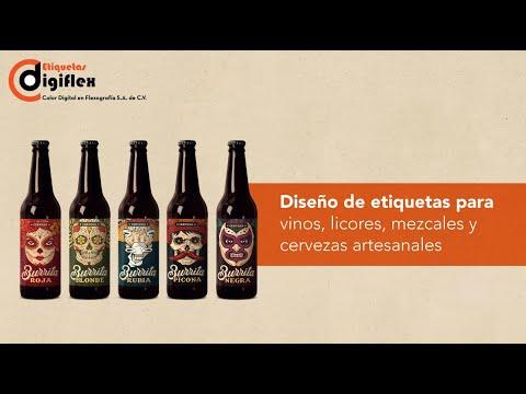 Diseño de etiquetas para vinos, licores, mezcales y cervezas artesanales