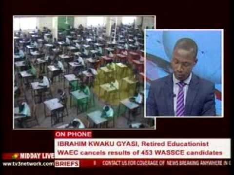 MiddayLive - WAEC cancel results of 453 WASSCE candidates - 10/8/2015