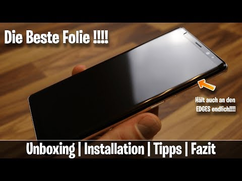 WhiteStone Dome Glass Note 8 / Note 9 / S9 / S9+ BESTE FOLIE ☆ Unboxing | Installation | Fazit ☆