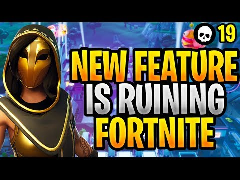 The NEW Feature That Is RUINING Fortnite    (Fortnite New Update 9 10 -  Season 9)