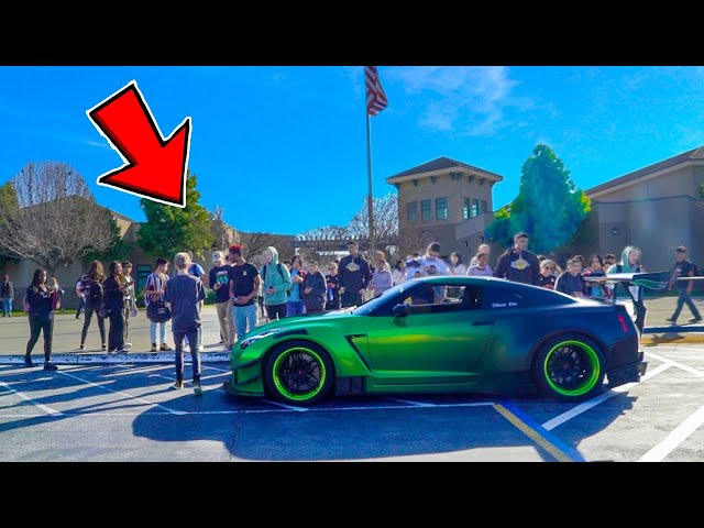 Picking Up Little Sister from High School in 1000HP GTR!