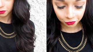 Everyday Fall Makeup | Tight Wand Curls