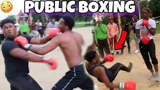 "PUT THE GLOVES ON PUBLIC BOXING - (THREE KO""S)"