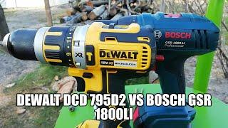 Drill DeWalt DCD 795D2 and Bosch GSR 1800 Li
