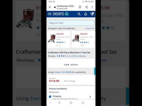 Sears - Online order