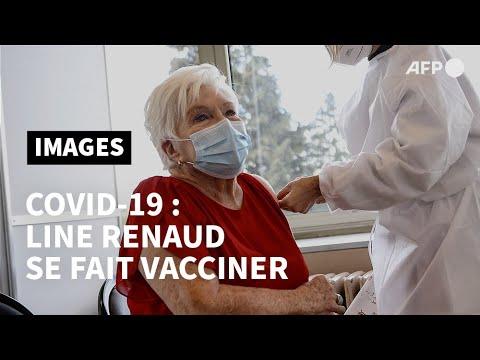 Line Renaud se fait vacciner contre le Covid-19 | AFP Images Line Renaud se fait vacciner contre le Covid-19 | AFP Images