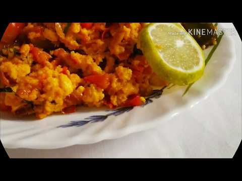 PANEER BHURJI WITH FRIED ONIONS AND SPICES - Aaleen Khan Recipes