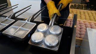 밥알이 살아있는 구운찰떡 / grilled sticky rice cake (chal tteok) - korean street food