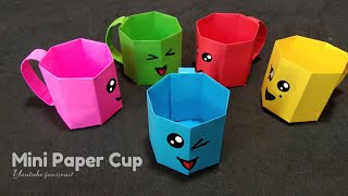 DIY MINI PAPER CUP / Paper Crafts For School / Easy Kids Crafts Ideas