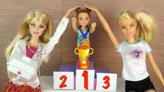 УДИВИТЕЛЬНАЯ ПОБЕДА ЧЕЛСИ Гимнастика для девочек Мультик Школа Куклы Барби