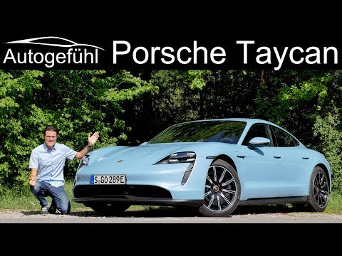 Porsche Taycan FULL REVIEW with German Autobahn test Taycan 4S - Autogefühl