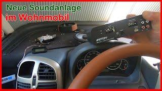 Neue Soundanlage für´s Wohnmobil HymerB, Eton Endstufe, Audio System Lautsprecher, Pioneer Subwoofer