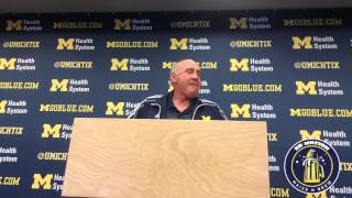Michigan's Greg Mattison gets emotional talking Hoke, sideline argument against Utah