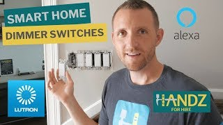 Lutron Caseta Dimmer Switch Installations with Pico Remote, Lutron App and Alexa Setup (Part 1/2)