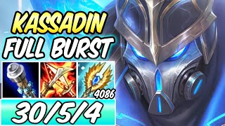 *30 KILLS* HEXTECH KASSADIN MID NEW SKIN FULL BURST 78k DMG | Best Build & Runes | League of Legends