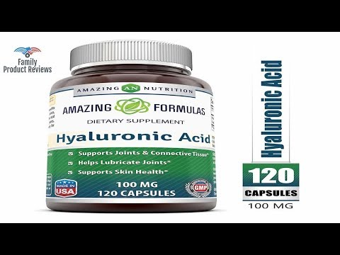Amazing Formulas Hyaluronic Acid 100 mg 120 Capsules - Support Healthy Connective Tissue and Joints